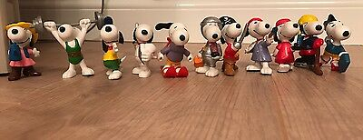 Vintage Set Of 11 Snoopy Figures (Not Mcdonalds freebies) circa 30 years old
