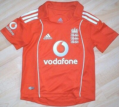 *NEW* Adidas - England National Cricket Shirt/Jersey - Age 7/8 *NEW*