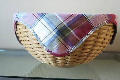 Large Longeberger Bowl Basket Combo with Covered Insert, Paprika  Plaid Liner