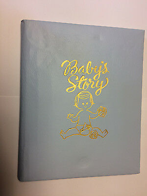 """Vintage 1973 """"baby's Story"""" Baby Record Book New In Pkg. Unused"""