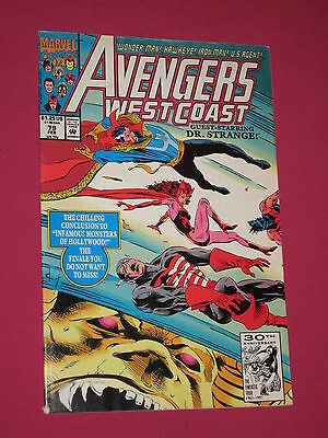 Avengers West Coast #79 Marvel Comic Book, 1992 Doctor Strange, Captain America