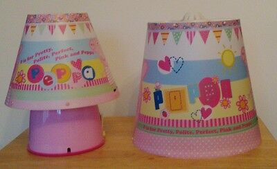 Matching Peppa Pig Table Lamp & Ceiling Light Shade. Fairground Design