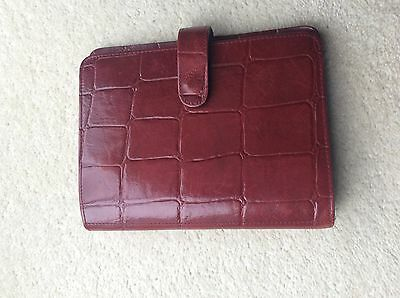 Mulberry Diary Agenda Organiser in Deep Red Congo Leather