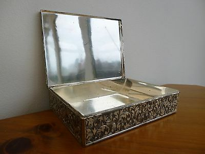 Vintage Viners Silver Plated Cigarette Box