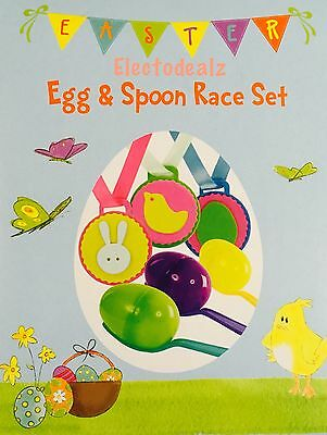 Easter Egg and Spoon race kit set fun activity easter celebration gift kids new
