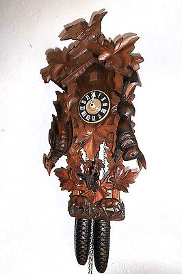 xl vintage orig cuckoo clock,black forest regula wall clock germany 8 day