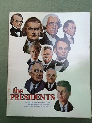 Vintage Large Frame-able Set of 36 Portraits of The Presidents By Great Artists