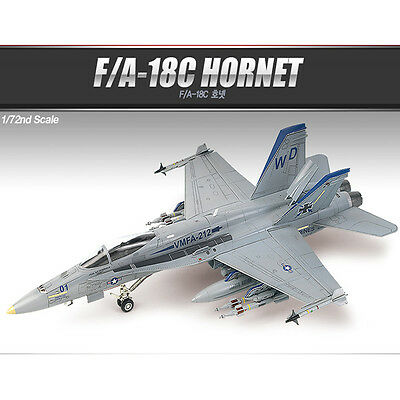 Academy 1/72 F/A-18C HORNET US NAVY/USMC Plastic Model Kit Airplanes #12411