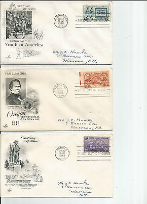 9 Used U.S. First Day of Issue Covers -- c.v. $20.25