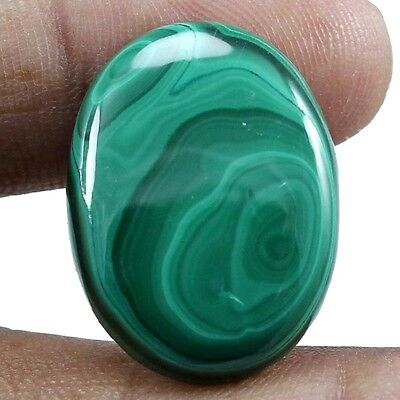 32.95 cts Natural Malachite Oval Loose Cabochon Designer Untreated Gemstones