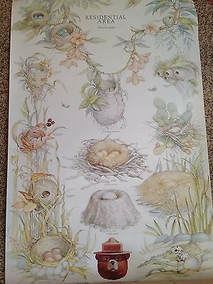 SMOKEY BEAR Poster BIRD NESTS U.S. Department Agriculture Forest Service
