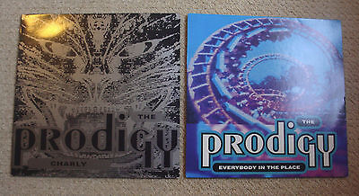 """THE PRODIGY - CHARLY & EVERYBODY IN THE PLACE 12"""" VINYL HARDCORE/RAVE/90s"""