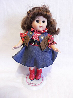 """Western Vogue Ginny Line Dancing 8"""" Doll Cowgirl with Original Stand"""
