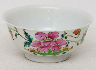 Chinese porcelain 19th century famille rose bowl