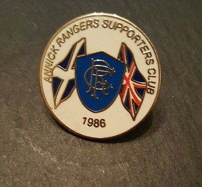 Glasgow Rangers supporters club football badge Annick