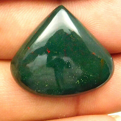 24.90 cts Natural Beautiful Designer Bloodstone Gemstone Heart Loose Cabochon