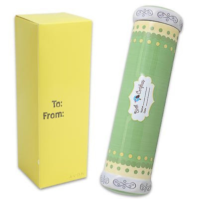 Birth Certificate Keepsake Tube