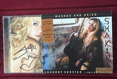Shakira Laundry Service Washed And Dried CD / DVD - SIGNED / AUTOGRAPHED