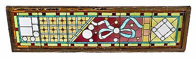 Intact 1880's Victorian Stained Glass Window From Chicago's Gold Coast