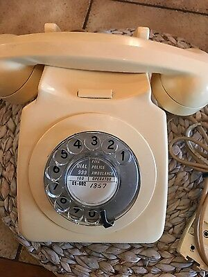 Vintage Telephone x two. Cream Rotary Dial Phones