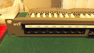 "BT High performance 24 port patch panel CTX0238 cards 19"" rack mount"