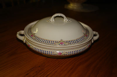 Antique W.H. Grindley Round Covered Serving Dish