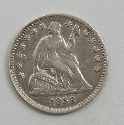 1858 Liberty Seated Half Dime, Variety 2 *G47