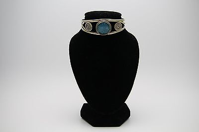 Mexican Silver Bracelet With Blue Stone