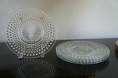 """Vintage Hobnail Clear Luncheon Plate  by Anchor Hocking   8 1/2""""       NOS"""