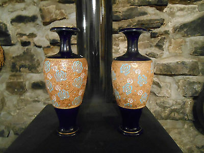Pair of Doulton & Slater Stoneware Vases early 1900s.