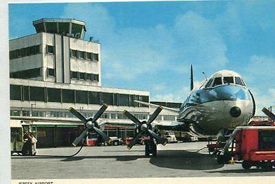 AK  BRITISH EUROPEAN AIRWAYS Vickers Viscount Airport Jersey