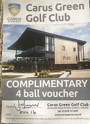 Carus Green Club Club - Green Fees Voucher 1 x (4) Four Ball LA9 6EB Kendal