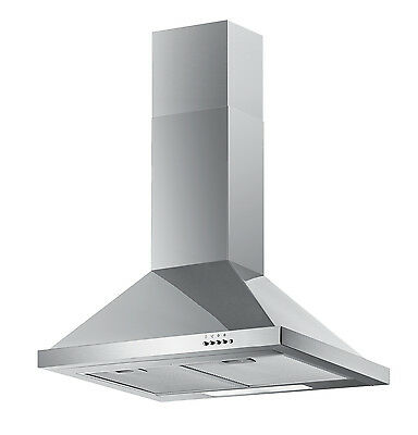 New Baumatic F60.2SS 60 cm Chimney Cooker Hood - Stainless Steel