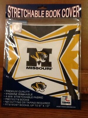 Turner Licensing Stretchable Book Cover Missouri Tigers NWT