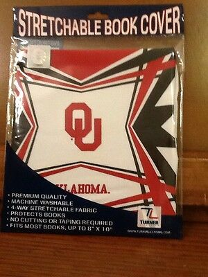 Turner Licensing Stretchable Book Cover Oklahoma Sooners NWT