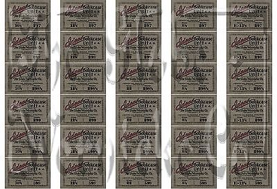 Wow! Ideal Line Globe Wernicke® Bookcase Labels! Perfect Factory Re Issue Labels