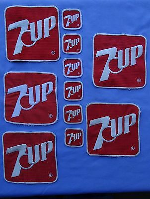 7 Up Patches used Vintage From 1980's work shirts