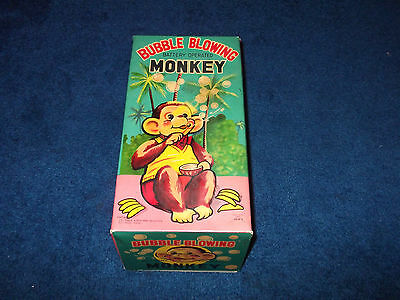 Bubble Blowing Monkey, Vintage Alps Battery Operated With Original Box