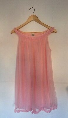 Vintage CAMISOLE NYLON Babydoll St Michael PANTIES Size 32/34 Bust Pink