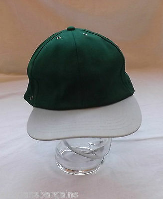 Job Lot x 25 Green/Grey Baseball Caps Hats 100% Cotton Adjustable Velcro JSP NEW