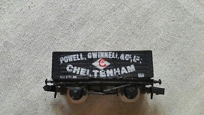 A model railway 7plank open wagon in N gauge by Graham farish unboxed with load
