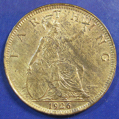 1926 ¼d George V Farthing in an extremely high grade