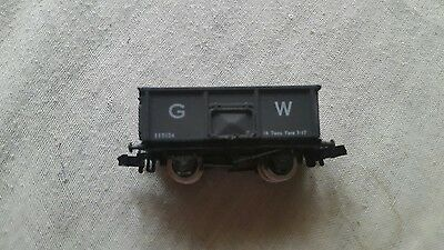 A model railway mineral wagon in N gauge by Graham farish unboxed with load