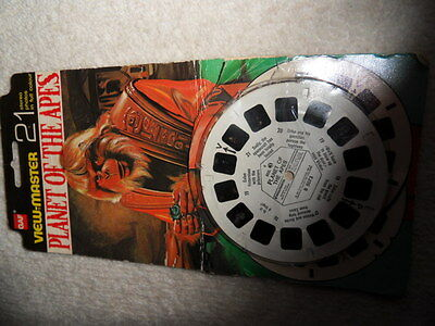 Viewmaster Planet of the Apes 1970s tv show 21 3-D photos
