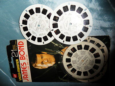 Viewmaster James Bond Moonraker and Live and Let Die, 3-D photos on x 5 reels
