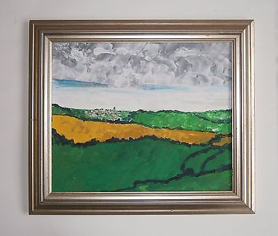 """An Oil Painting Of   """"a Devon Landscape""""  - Unsigned"""