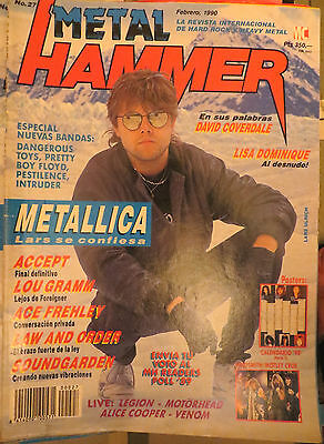 Metal Hammer:n.27-Metallica-Accept-Alice Cooper-Ace Frehley-Poster:sacred Reich