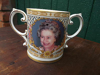 2002 Golden Jubilee of Queen Loving Cup Caverswall China Limited Edition