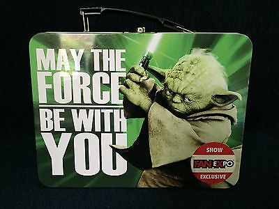 Star Wars Yoda Lunchbox May The Force Be With You Metal Fan Expo Exclusive