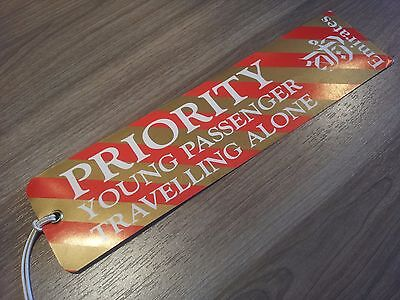 """Emirates - Baggage Tag - Gepäck-Anhänger - """"Priority"""" - Young Passenger - top"""